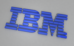 IBM Blue Glass Wallpaper by tempest790