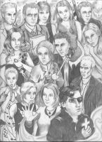 Buffy the Vampire Slayer -gang by ennui-robot