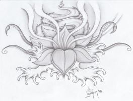 Lotus tattoo by jammy-sam