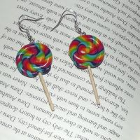Rainbow Lollipop earrings 2 by MeticulousBlue