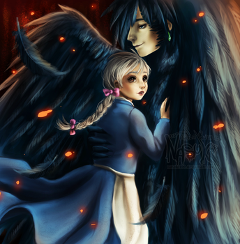 Howl and Sophie by Nasuki100