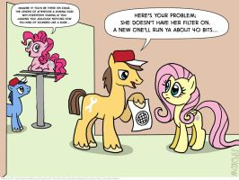 Pinkie Pie doesn't have her filter on by KTurtle