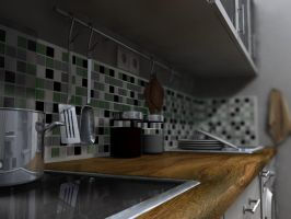 Kitchen 3D 2 by kallestar23