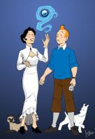 Tintin meets the Witch of New York by JesIdres