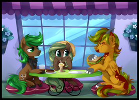 Day at the Cafe by XNightMelody