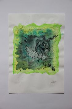 Chrysalis Watercolour Portrait by AbLM
