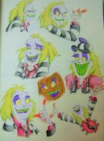 Beetlejuice sketches 1 by DisneyFan-01