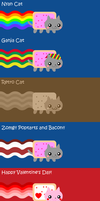 nyan cat collection by to-much-a-thing