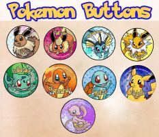 Pokemon Buttons by Ryoko-and-Yami