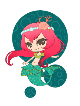 chibi mermaid by LiliLith