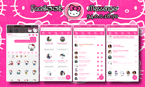 Hello Kitty Facebook Messenger for Android by LadyPinkilicious