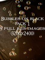 Bubbles on Black Pack 1 by RLDStock