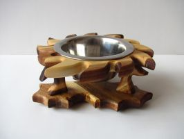 Dog bowl stand Thistle by cc2k-design