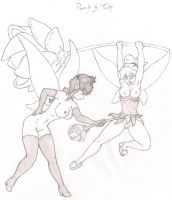 Pamila and Tink by dragonzero06