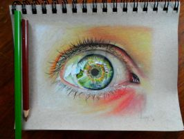 Eye Drawing by AshSkater14