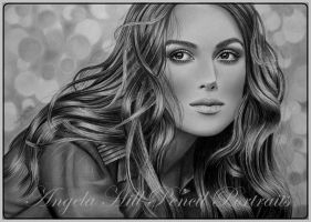 KEIRA KNIGHTLEY by AngelasPortraits