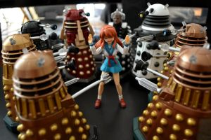 Mikuru Attacked by Daleks by ZaEmpera