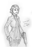Free Sketch - Perfect Dark by genekelly