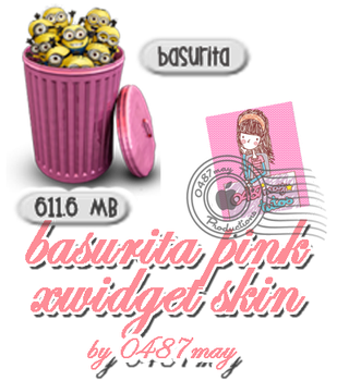 Recycle bin, Pink  Xwidget by may0487
