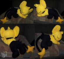 Sleeping Shiny Shinx plush by YutakaYumi