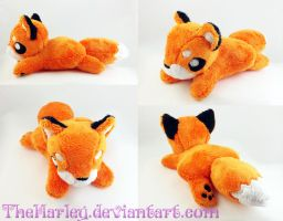 Small Orange Fox Plush by TheHarley