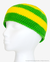 Lime Green + Yellow Beanie by Skarlet-Raven