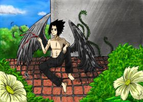 Sasuke-Angel coloured by Megumipandolfo