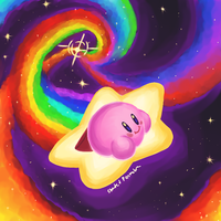 Kirby and the Space Rainbow by ShadedPenumbra