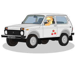 Applejack driving VAZ-21214 ''NIVA'' by DolphinFox