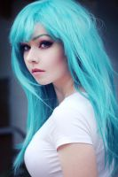 Dragonball Z - Bulma Wig and Makeup [2] by AmyThunderbolt