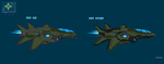 Spaceship Concepts - Fighters CRV Fighters by Luckymarine577