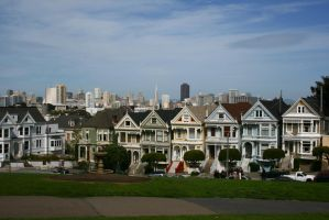 Alamo Square attraction by Dr-J-Zoidberg