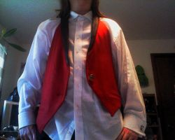 Cheshire Grell Vest front by JoeZep5