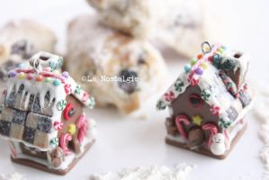 Christmas Cookies Gingerbread House Pendant by LaNostalgie05