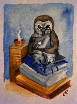 Owl by LizzartsLounge