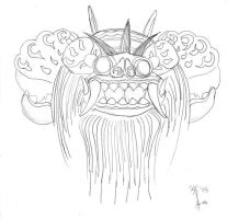 WiP: Balinese Barong Mask by Lemi4