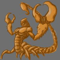 Scorpion man sketch by Saremu