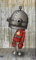 machinarium in christmas jumper by Baroque-Gothic
