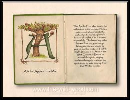 A is for Apple-Tree man by WildWoodArtsCo