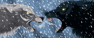 Wolf's Rain - Kiba and Darcia by Kuramuri