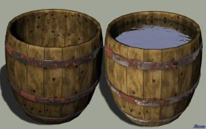 Barrel RecBin Object Dock Icon by At0mArt