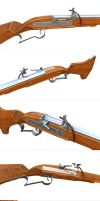 Russian musket 1600 details by kvserg