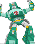 Kup Victory Dance with Shading Experimentation by TealSpace