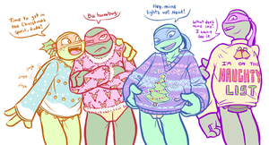 TMNT - Xmas sweaters by MidoriEyes