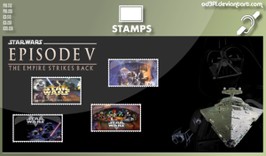 Stamps - 1980 - Star Wars Episode 5 The Empire Str by od3f1