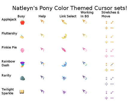 Animated Pony Cursor Project! by Natleyn