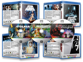 Star Wars Trilogy Blu-rays by FrankRT