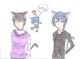 Confusion Ikuto and Lance by bunnyliou