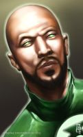 Greenlantern Headshot by earache-J