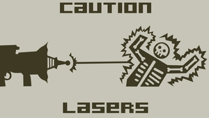 Caution Lasers by Draken-leader